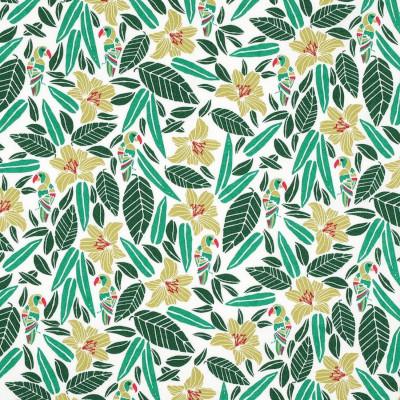 coupon tissu tropical perroquet - Mondial tissu