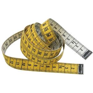 centimètre de couturière classique jaune et blanc