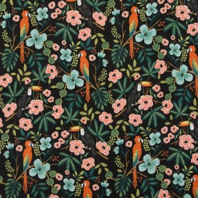 tissu Paradise Garden Midnight - Cotton and Steel x Rifle Paper