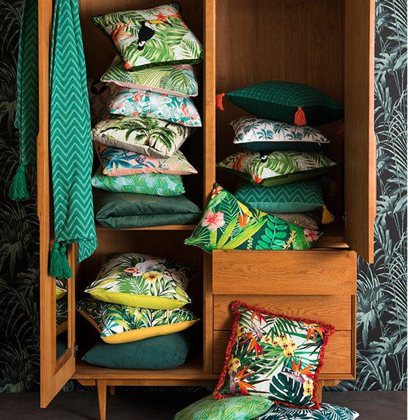 Tendance déco tropicale : le tissu jungle