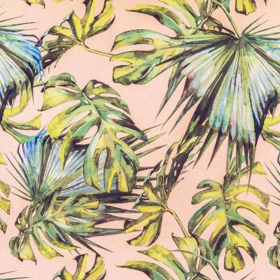 tissu velours botanic rose - tissu price