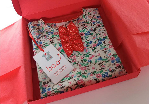 emballage cadeau de naissance -bao