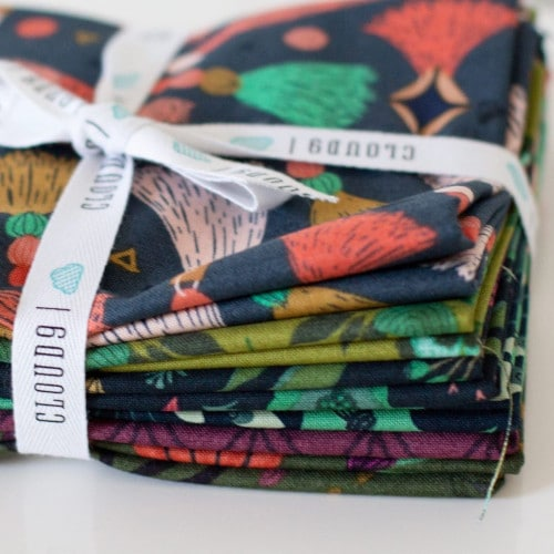 Collection forest jewels Cloud9fabrics par Kate Merritt
