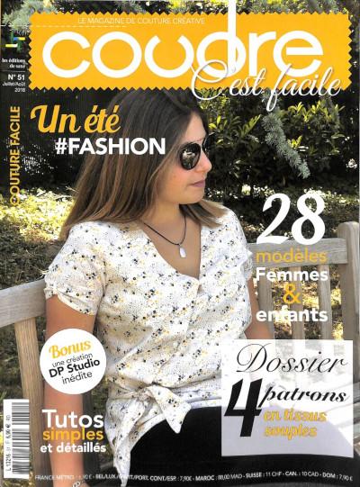 Magazine de couture - Coudre c'est facile - Juillet 2018