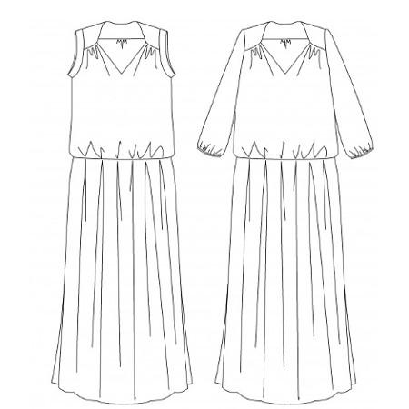 Patron maxi dress Suun - dessin technique