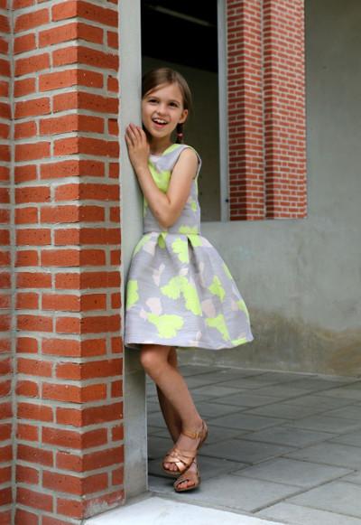 patron robe fillette hanami - version jacquard