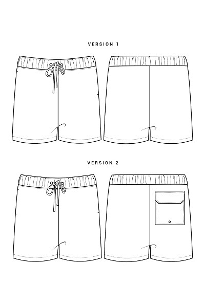 Patron short ou maillot de bain homme - Harrington - Colette Patterns