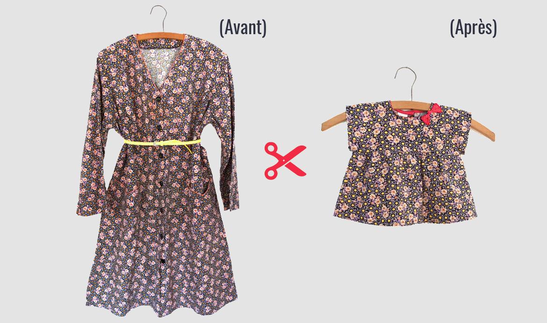 transformer une robe en tunique bébé