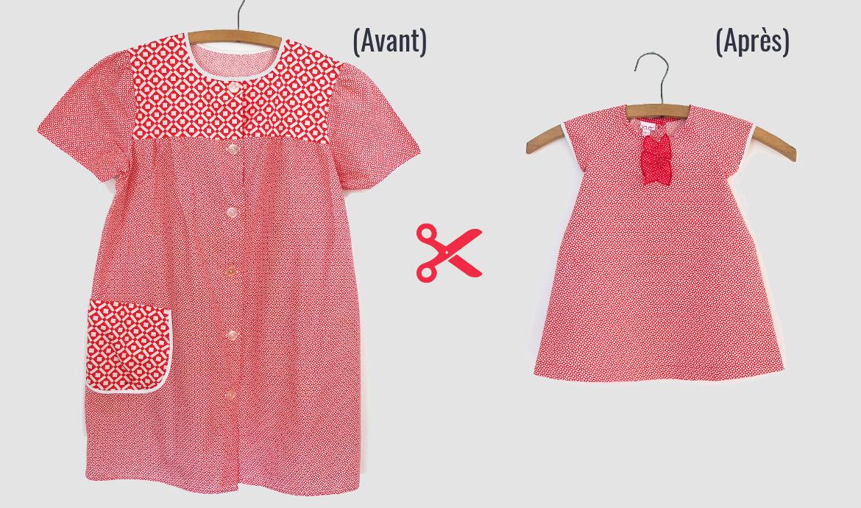 offrir une seconde vie à nos vêtements : transformation en habits pour les petits