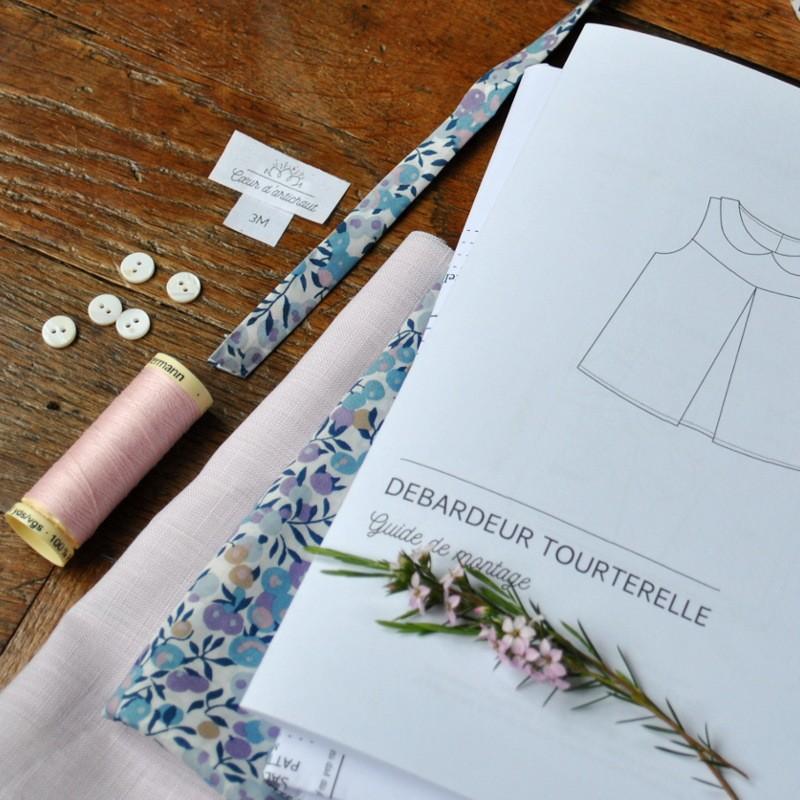 kit couture bebe - debardeur col claudine - Cœur d'artichaut