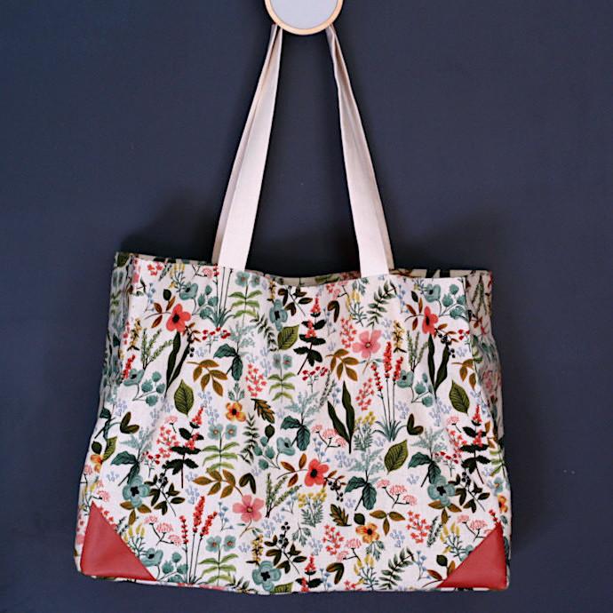 DIY sac cabas MILA - Patron gratuit de Louise magazine
