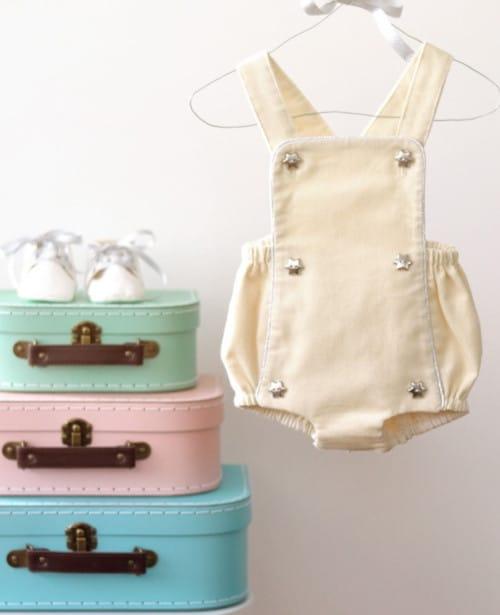 box couture bébé barboteuse - A&A patrons