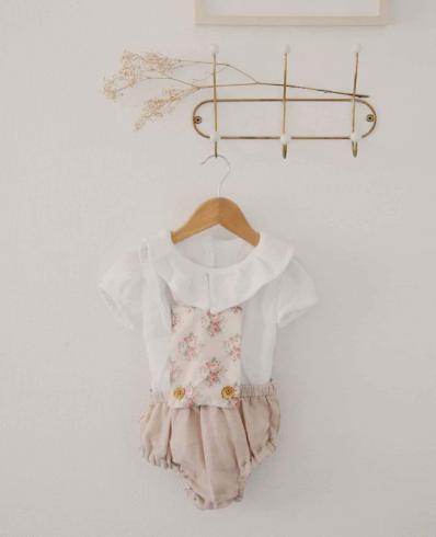 kit couture bébé - combi charlie - Popeline et Linon