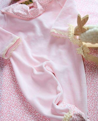 kit couture bebe - grenouillère fille - Popeline et Linon