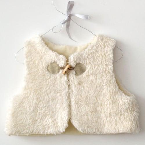 Kit couture gilet de berger bébé Colin - A&A patrons