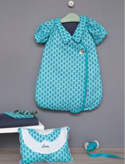 Kit couture gigoteuse bébé et son coussin rétro