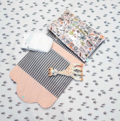 kit couture naissance - pochette à langer nomade - Super Bison