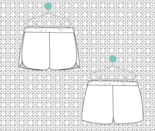 Modèle short femme Jacky - Super Bison