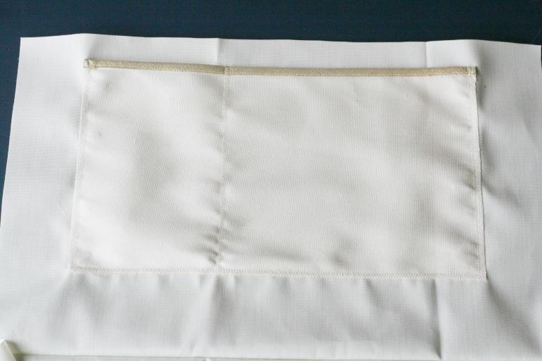 tuto sac cabas doublé - poche intérieure