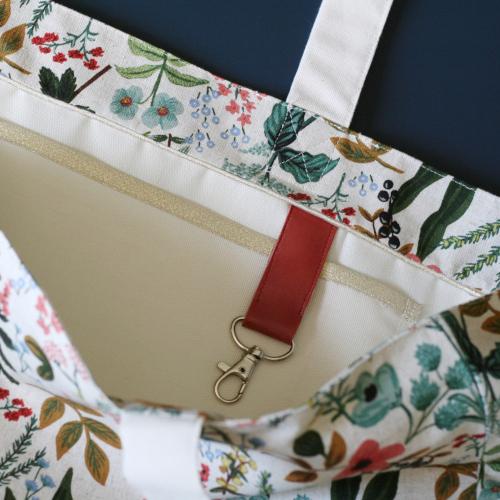 tuto sac cabas - mousqueton pour les clés