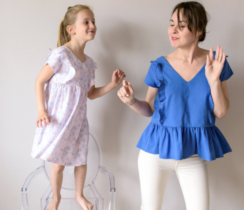 Duo couture mère-fille aime comme menthe à l'eau - Aime comme Marie