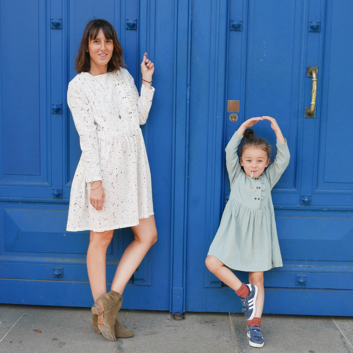 patron duo mère-fille - robe Elona d'Ikatee