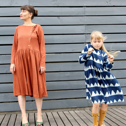 duo mere-fille - blouse Elona cousue par Jolies bobines