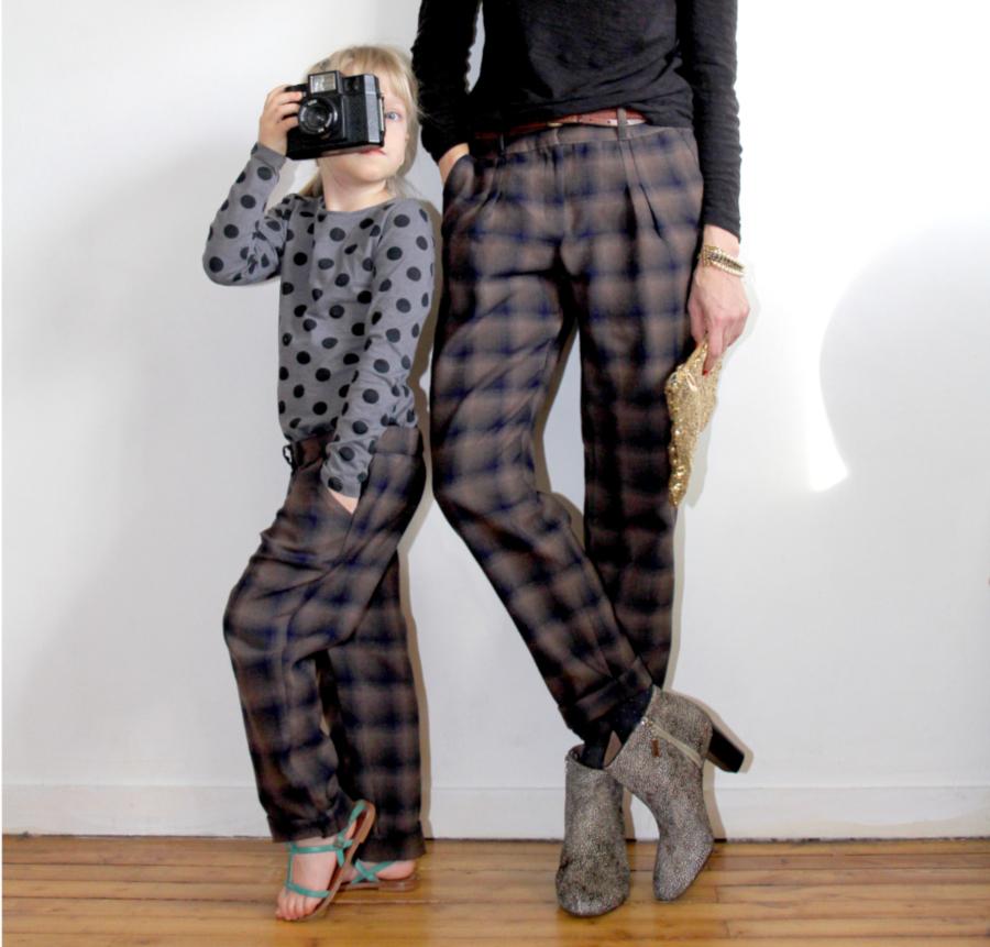 Duo mère fille - patron pantalon Gilbert - République du Chiffon