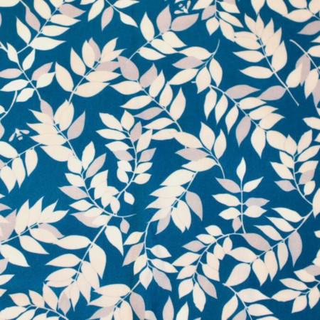 Jersey de coton biologique feuillage bleu - Mars-ELLE