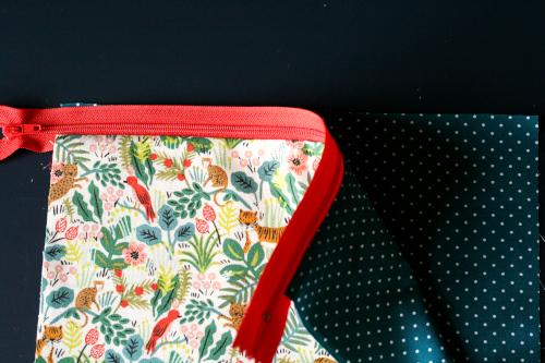 DIY trousse - Assemblage du zip