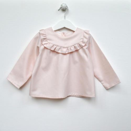 Kit couture blouse Linotte rose - cœur d'artichaut