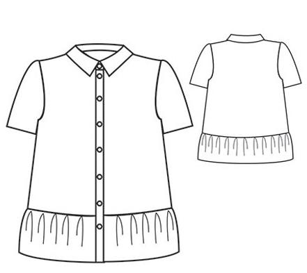 Dessin de la chemise Maeva - République du Chiffon