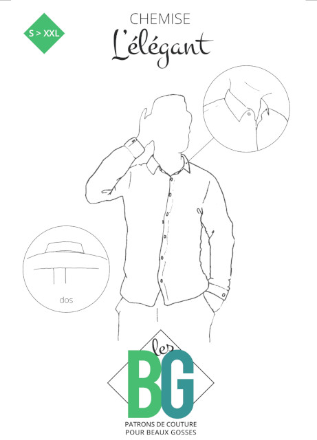 patron chemise homme L'ELEGANT - les BG