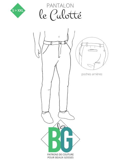 patron pantalon chino homme - le Culotté