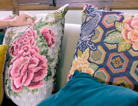 coussins motifs chinois collection Mondial Tissus x Sophie Ferjani