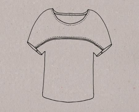 T-shirt Aime comme Minute - Dessin technique