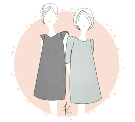 Dessin technique de la robe Malo - A,nne Kerdiles