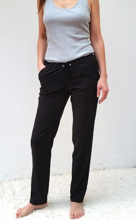 pantalon Camomille - taille élastiquée - Blousette Rose