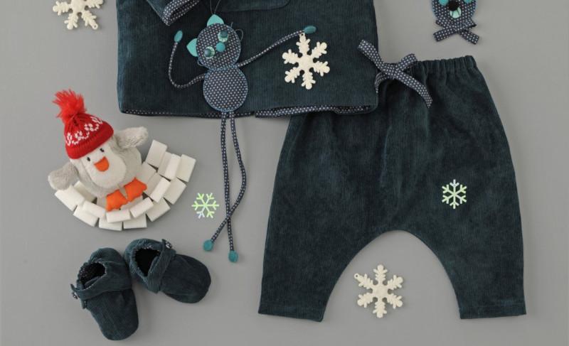coudre un sarouel bébé - patron gratuit Marie-Claire Idées