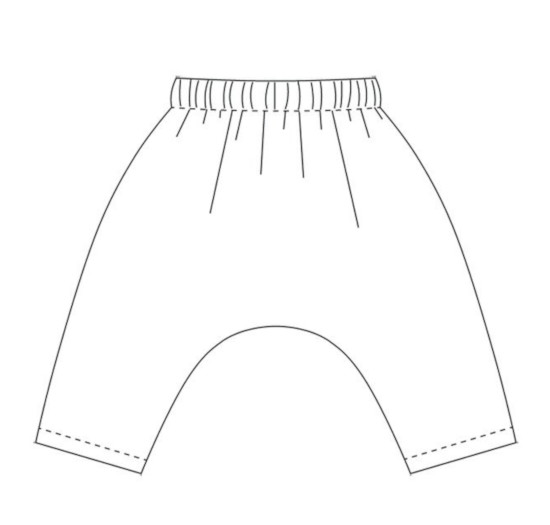 Dessin technique du patron Harem Pants - Wiksten