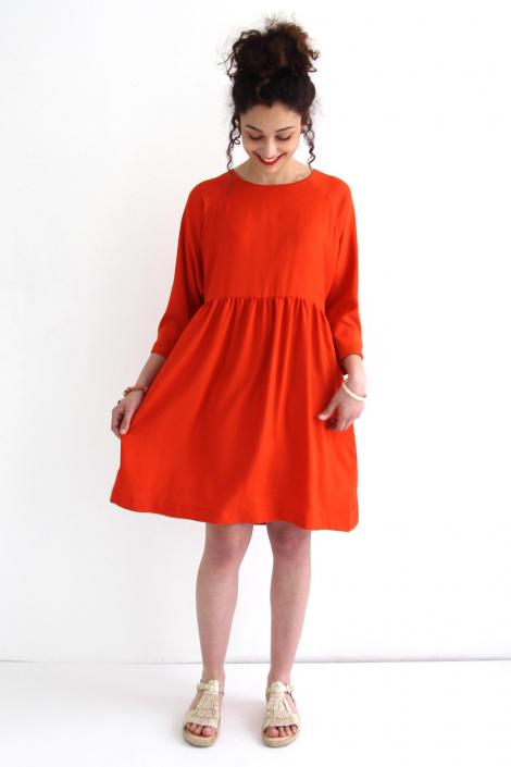 Robe Cassiopée rouge brique - I am Pattens