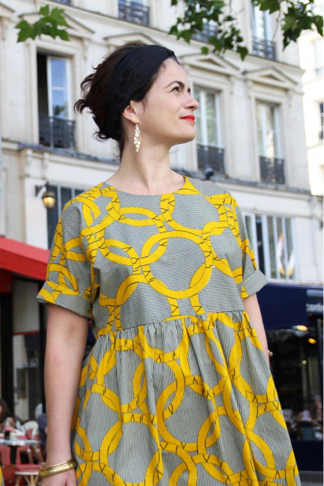 Robe Cassiopée en wax - I am Patterns
