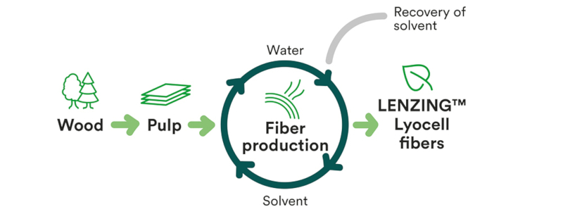 cycle de production du lyocell