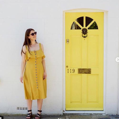 Robe en tencel jaune - @helloyellowclub