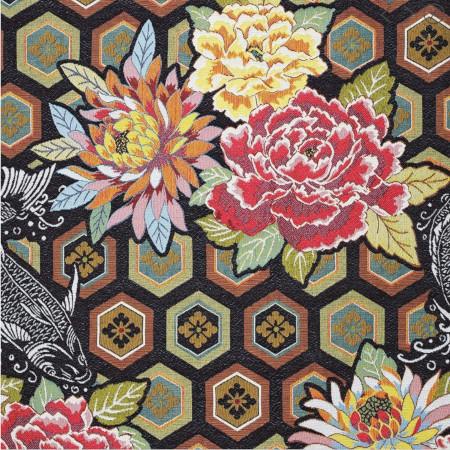tissu jacquard Kabuki - Mondial Tissus x Sophie Ferjani