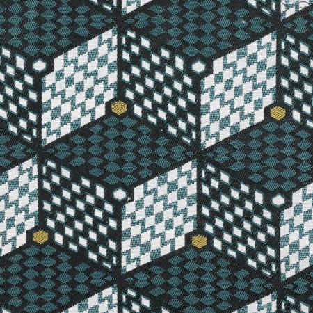 tissu jacquard lome géométrique - Mondial Tissus x Sophie Ferjani