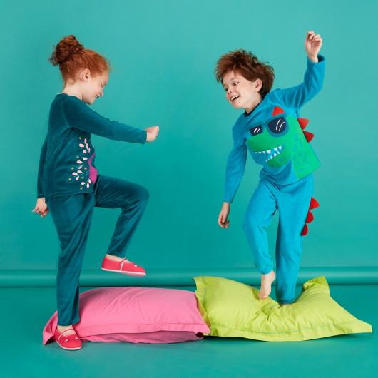 pyjama en jersey velours - dpam
