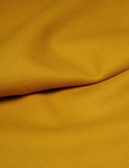 Drap de laine moutarde sergé, 100% laine - Pretty Mercerie