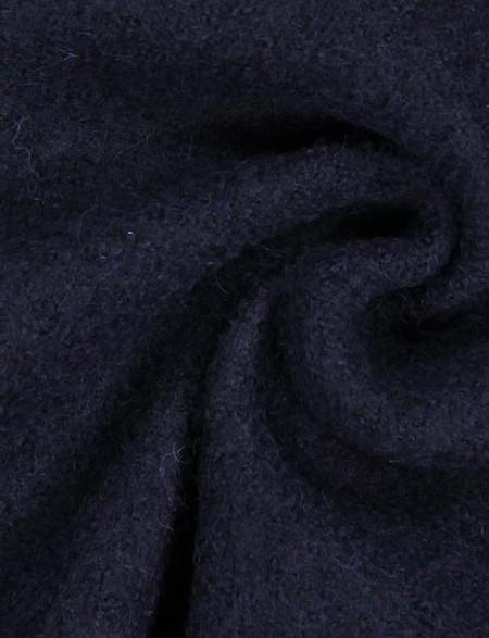 Loden foulé bleu navy - Tissus.net