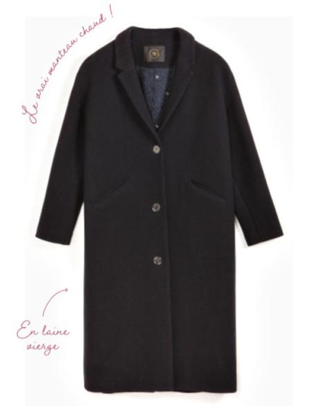 manteau pure laine - Des petits hauts